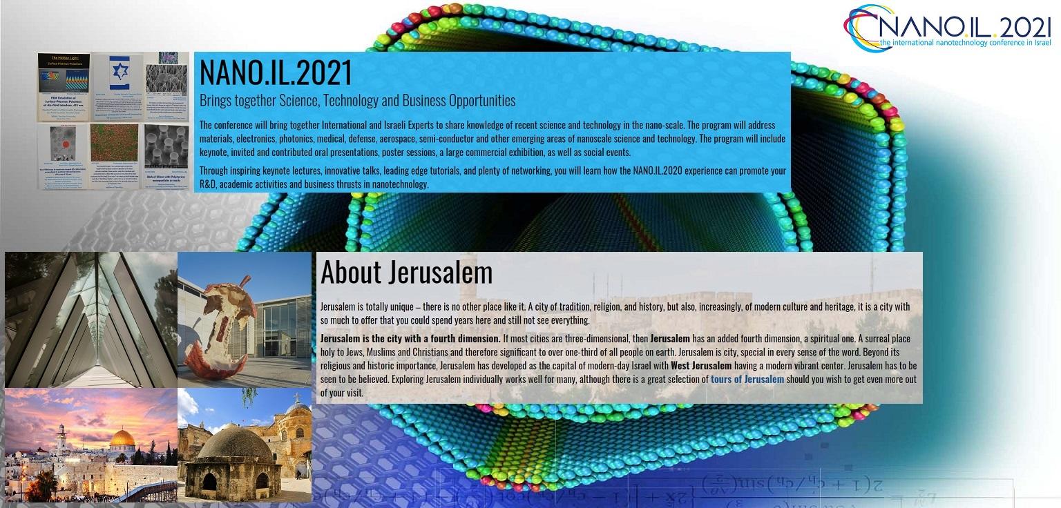 The NANO.IL.2021 Conference & Exhibition JLM