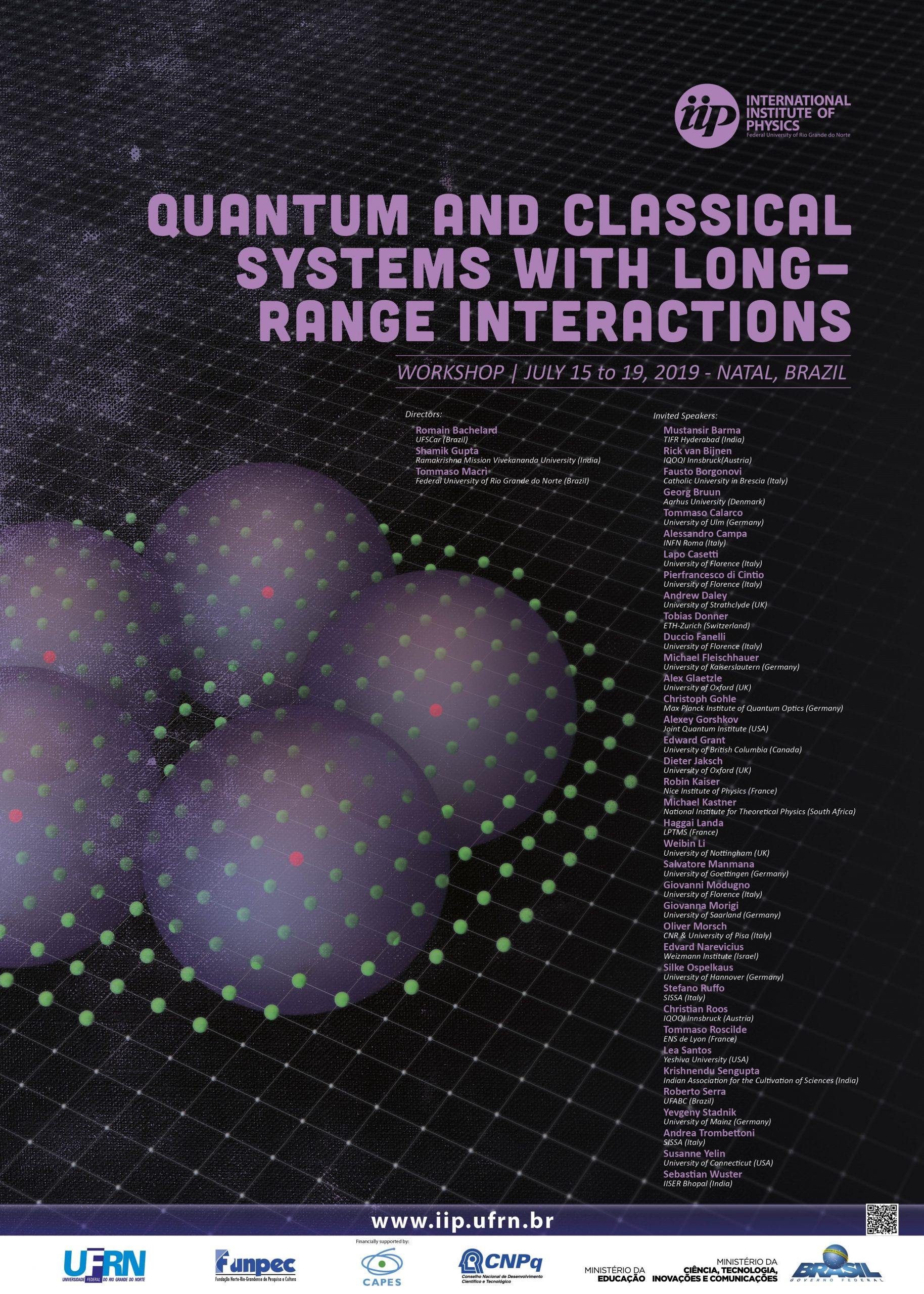 QUANTUM AND CLASSICAL SYSTEMS WITH LONG-RANGE INTERACTIONS