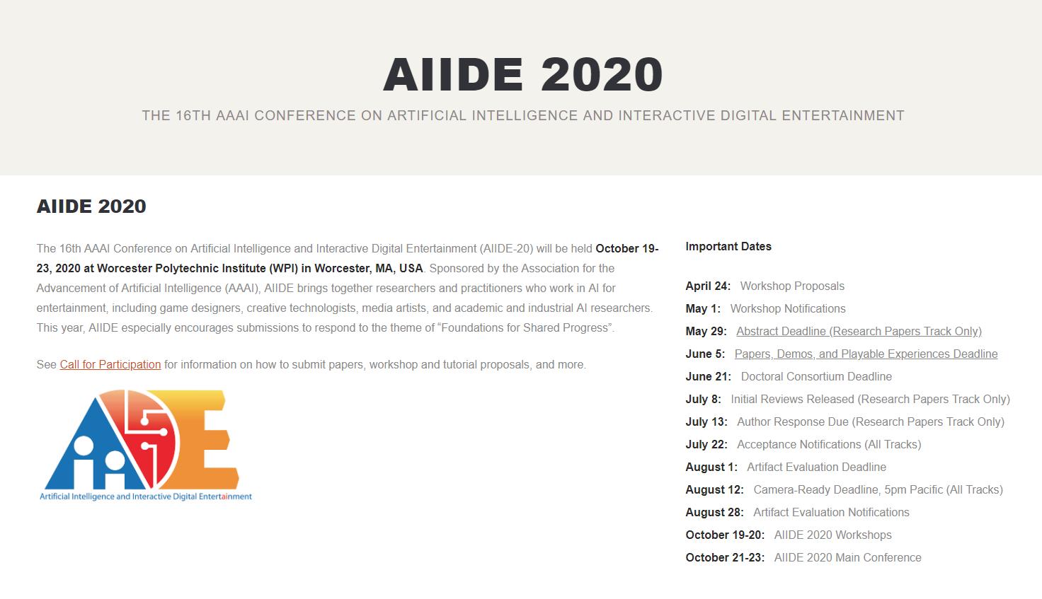 AIIDE 2020