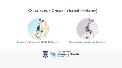 Interactive Maps of COVID-19 in Israel