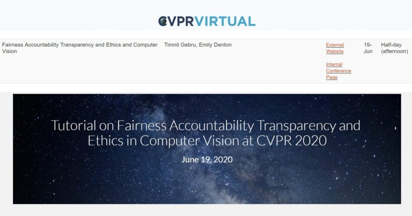 Fairness Accountability Transparency and Ethics in Computer Vision Tutorial